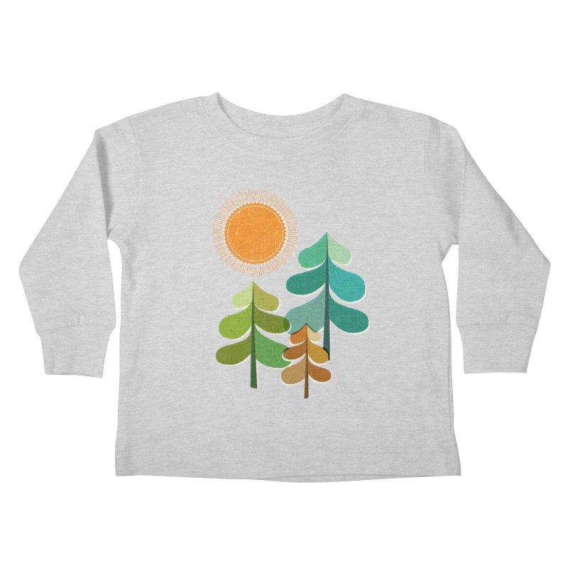 Golden Days Kids Toddler Longsleeve T-Shirt by Jenny Tiffany's Artist Shop