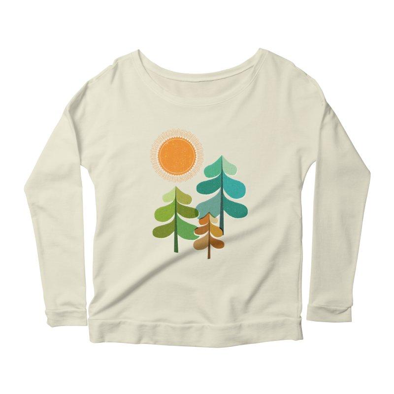 Golden Days Women's Scoop Neck Longsleeve T-Shirt by Jenny Tiffany's Artist Shop