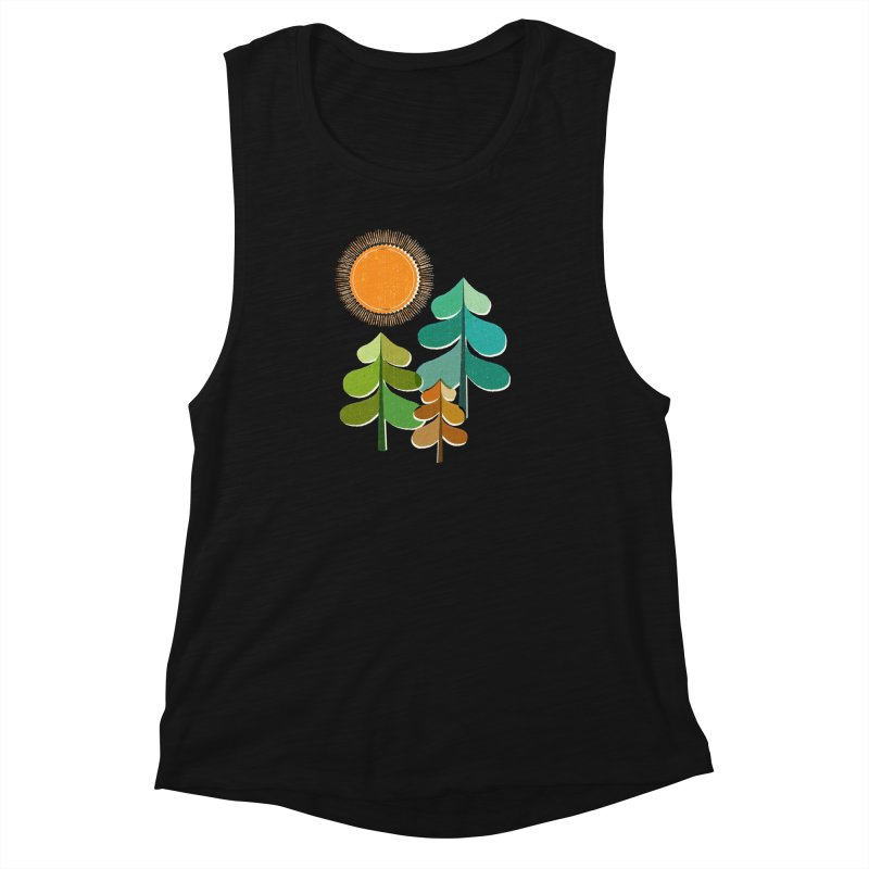 Golden Days Women's Muscle Tank by Jenny Tiffany's Artist Shop