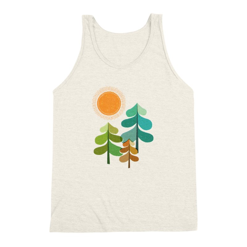 Golden Days Men's Triblend Tank by Jenny Tiffany's Artist Shop