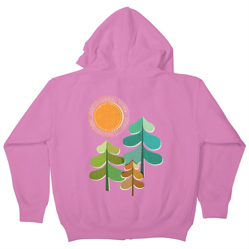 Golden Days Kids Zip-Up Hoody by Jenny Tiffany's Artist Shop