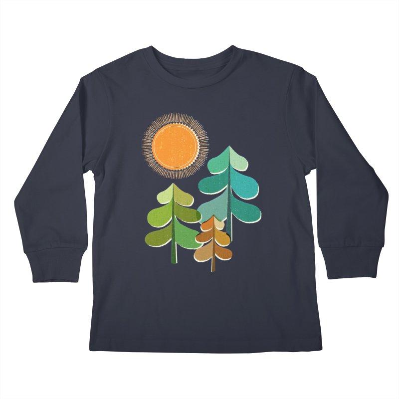 Golden Days Kids Longsleeve T-Shirt by Jenny Tiffany's Artist Shop