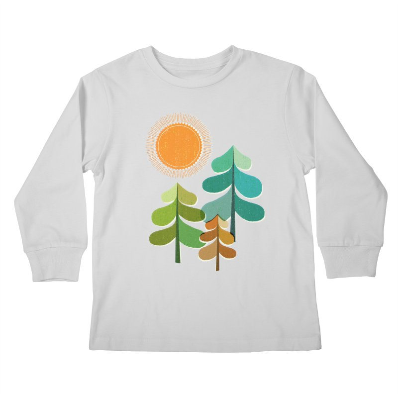 Golden Days Kids Longsleeve T-Shirt by Jenny Tiffany's Artist Shop