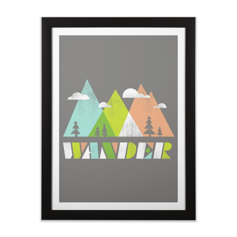 Wander Home Framed Fine Art Print by Jenny Tiffany's Artist Shop