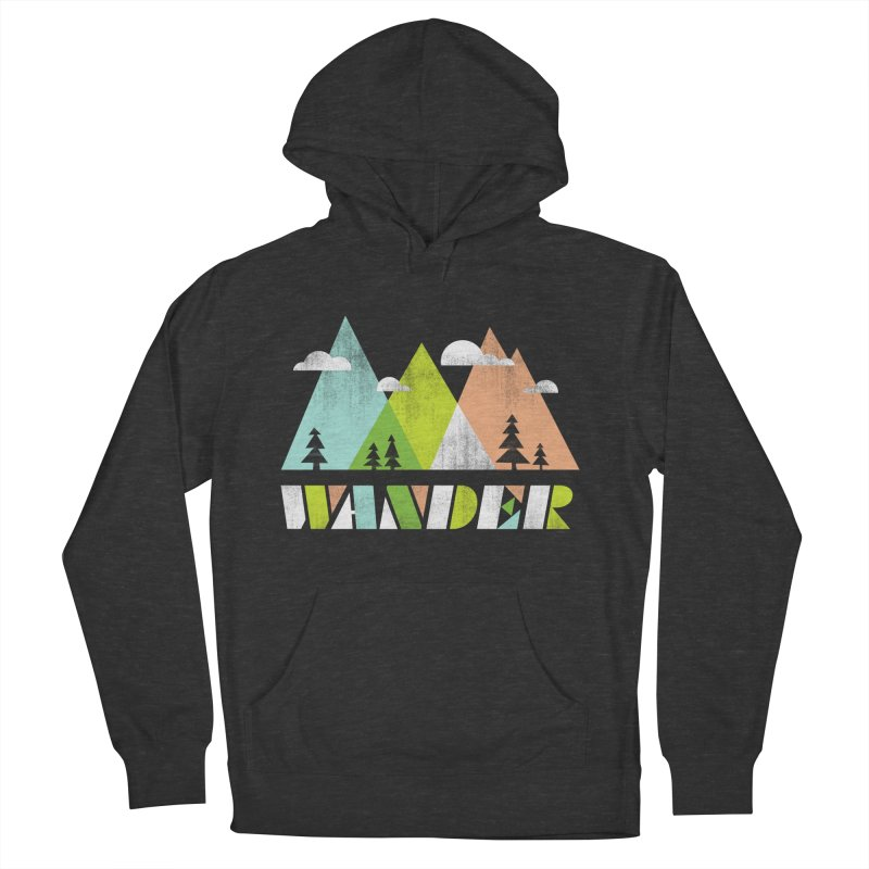 Wander Men's French Terry Pullover Hoody by Jenny Tiffany's Artist Shop