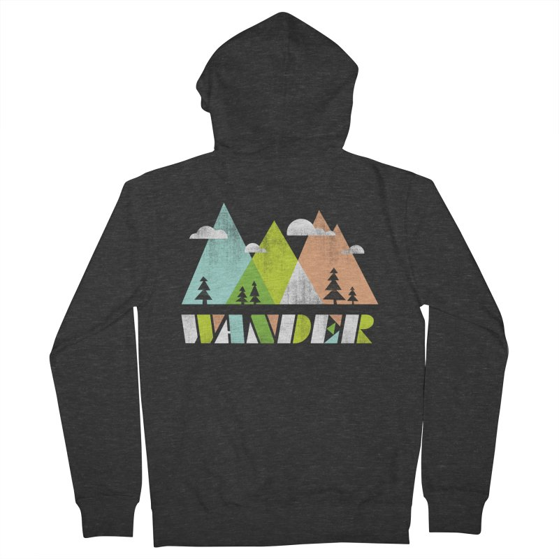Wander Men's French Terry Zip-Up Hoody by Jenny Tiffany's Artist Shop