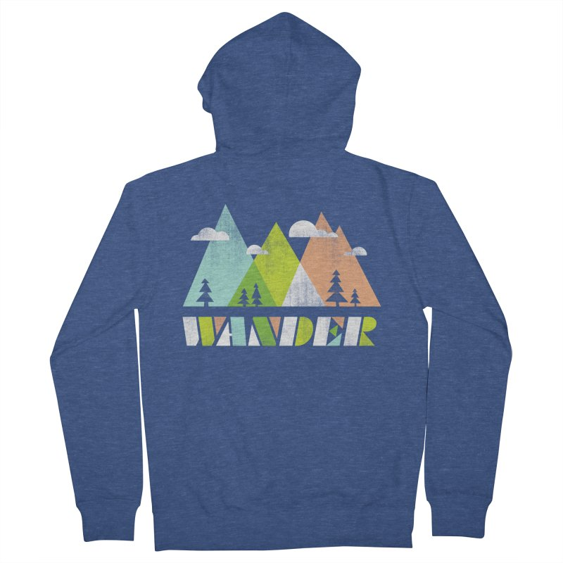 Wander Men's Zip-Up Hoody by Jenny Tiffany's Artist Shop