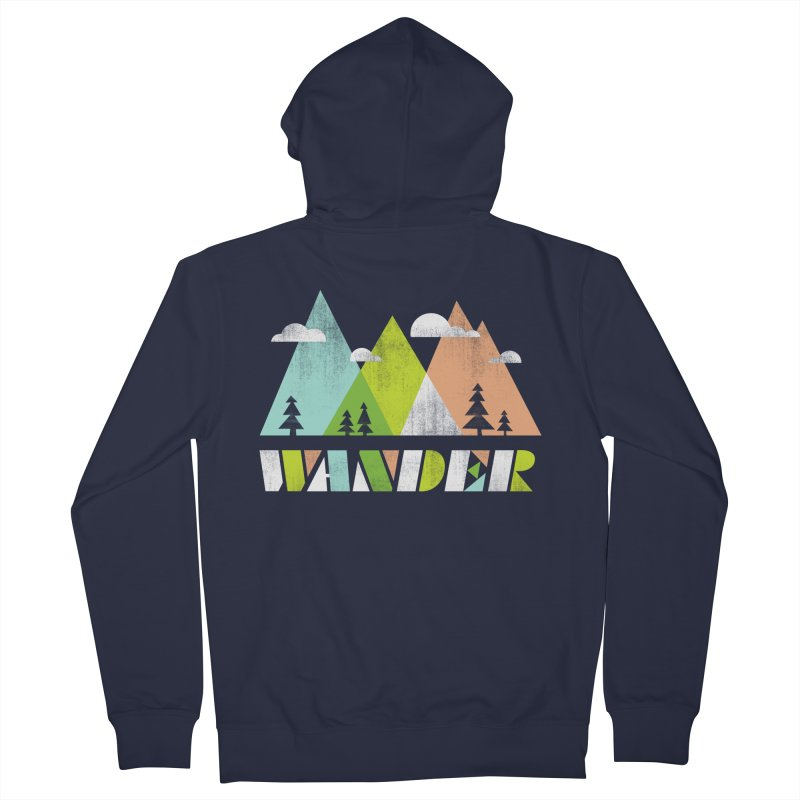 Wander Men's Zip-Up Hoody by Jenny Tiffany's Artist Shop