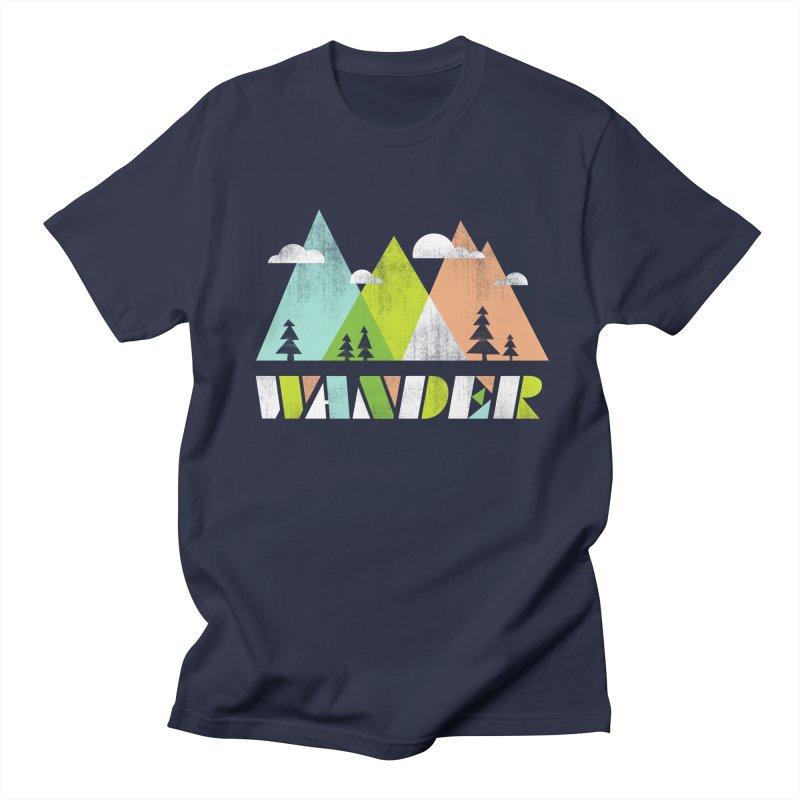 Wander Men's Regular T-Shirt by Jenny Tiffany's Artist Shop