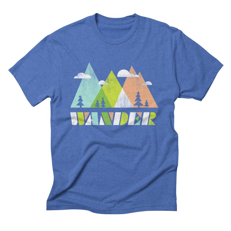 Wander Men's Triblend T-Shirt by Jenny Tiffany's Artist Shop