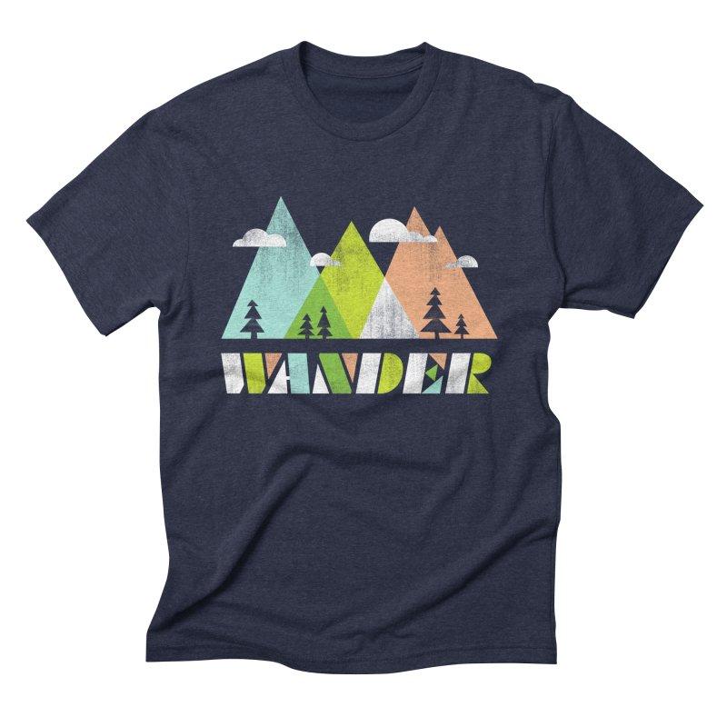 Wander Men's Triblend T-Shirt by Jenny Tiffany's Artist Shop