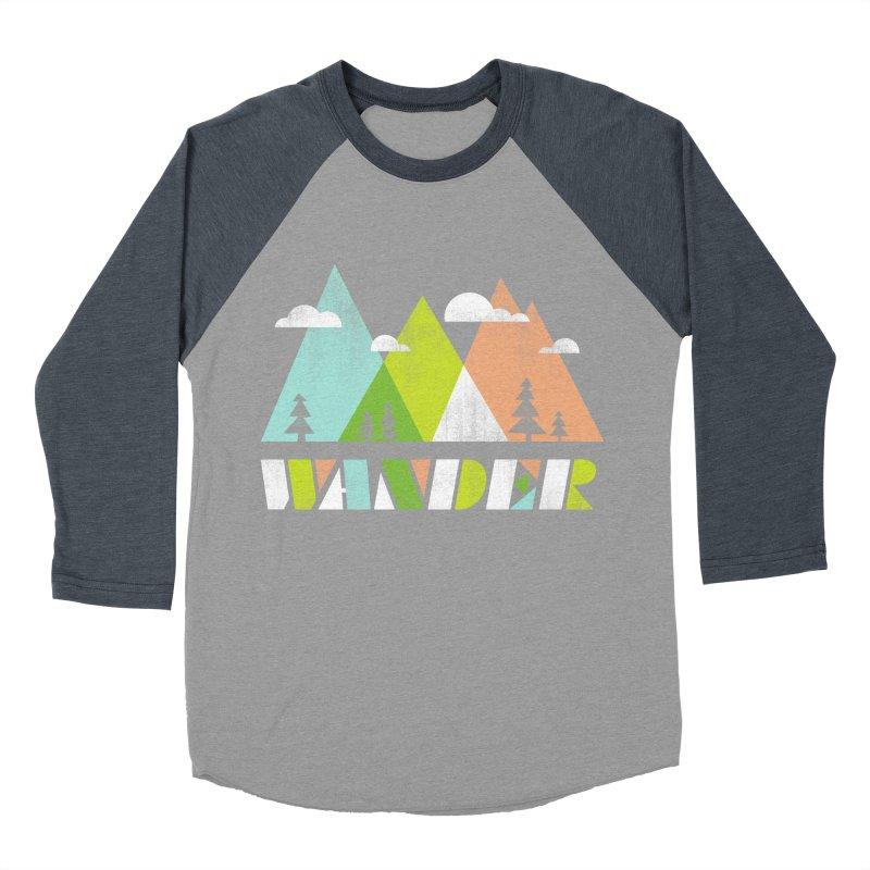 Wander Women's Baseball Triblend Longsleeve T-Shirt by Jenny Tiffany's Artist Shop