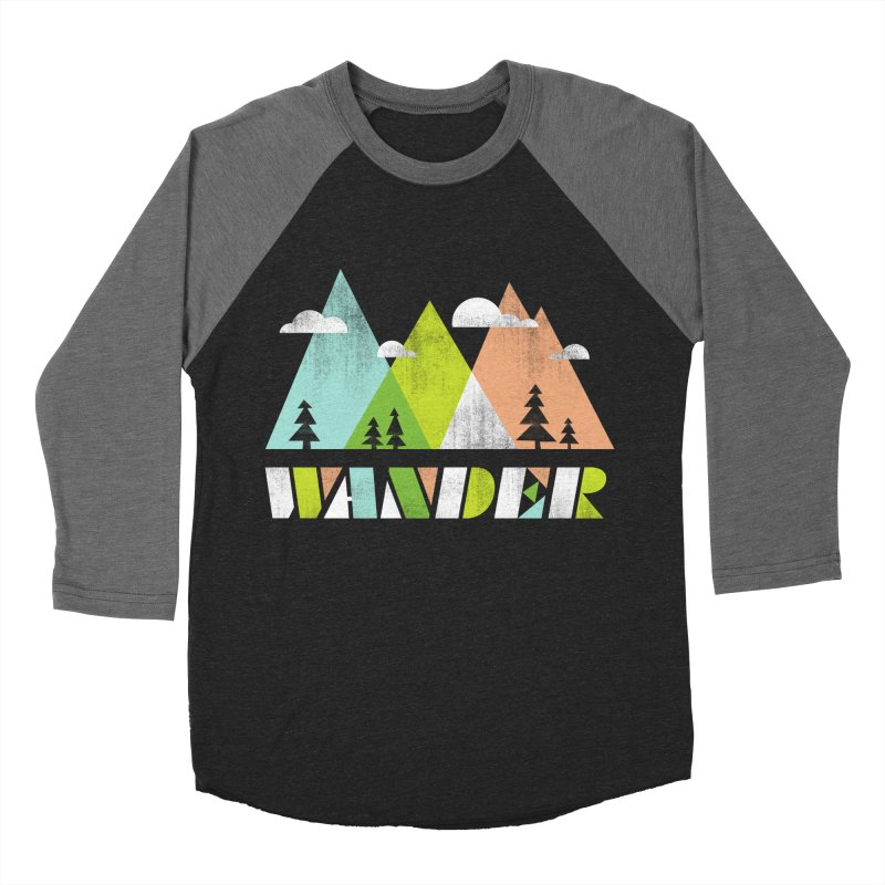 Wander Men's Baseball Triblend Longsleeve T-Shirt by Jenny Tiffany's Artist Shop