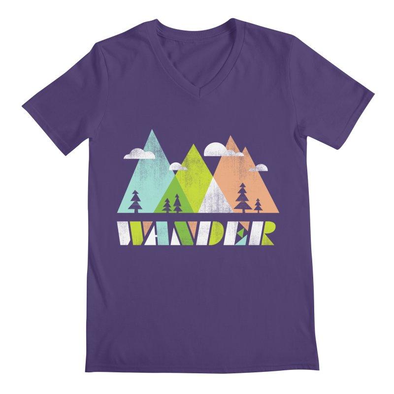Wander Men's V-Neck by Jenny Tiffany's Artist Shop