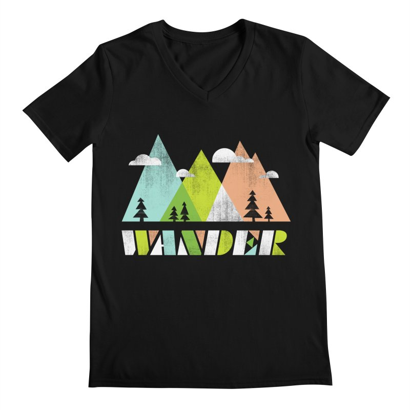 Wander Men's Regular V-Neck by Jenny Tiffany's Artist Shop