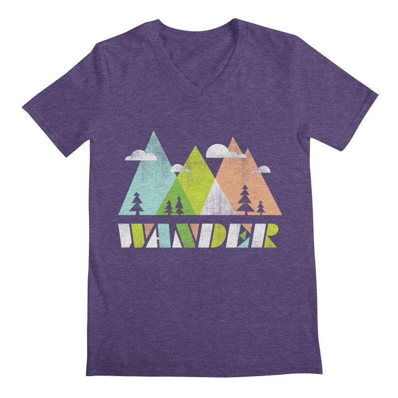 Wander Men's Regular V-Neck by Jenny Tiffany's Artist Shop