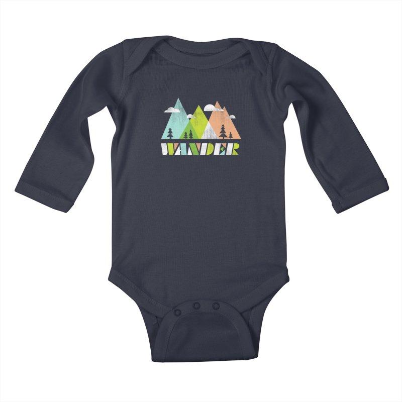 Wander Kids Baby Longsleeve Bodysuit by Jenny Tiffany's Artist Shop