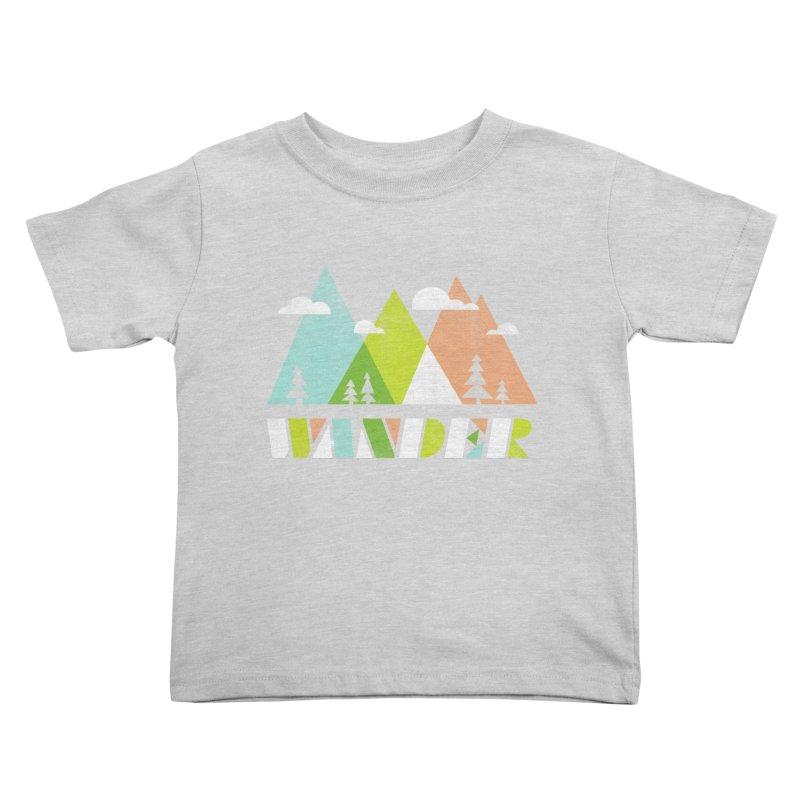 Wander Kids Toddler T-Shirt by Jenny Tiffany's Artist Shop