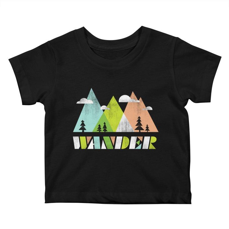 Wander Kids Baby T-Shirt by Jenny Tiffany's Artist Shop