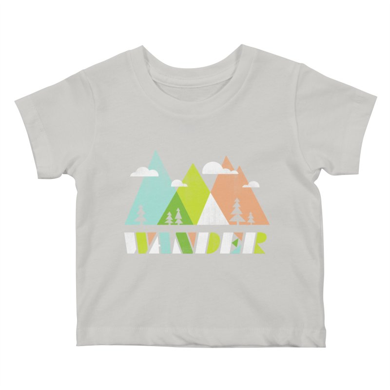 Wander Kids Baby T-Shirt by Jenny Tiffany's Artist Shop