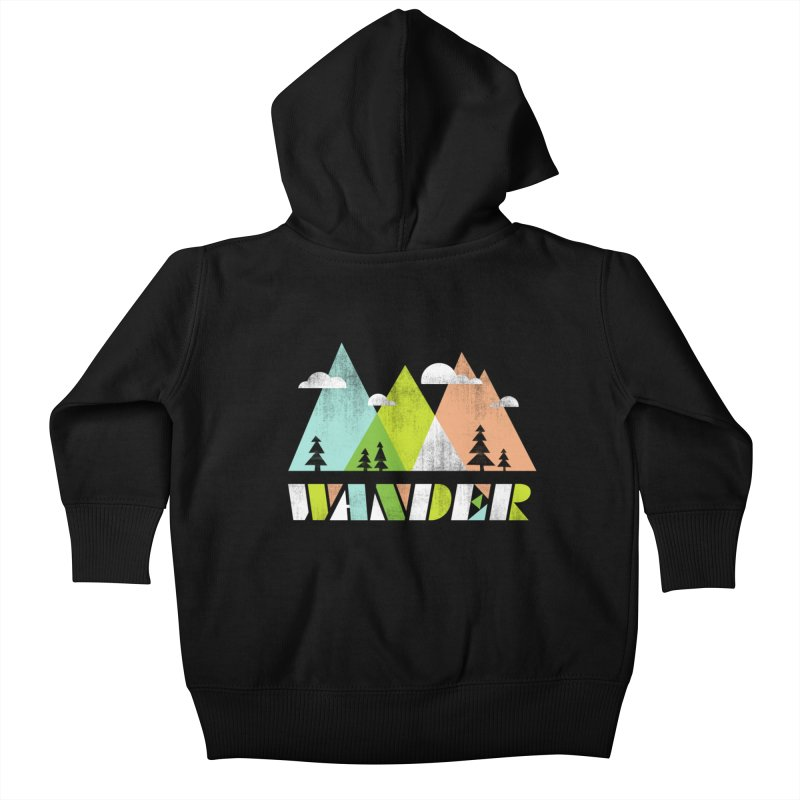 Wander Kids Baby Zip-Up Hoody by Jenny Tiffany's Artist Shop