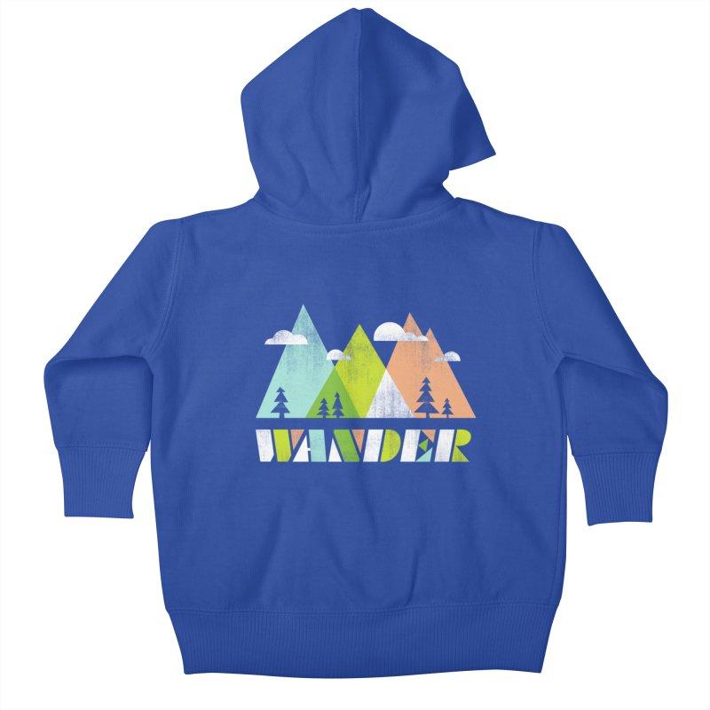 Wander Kids Baby Zip-Up Hoody by Jenny Tiffany's Artist Shop
