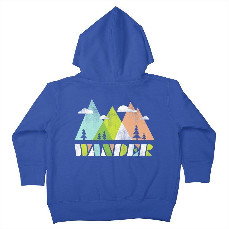 Wander Kids Toddler Zip-Up Hoody by Jenny Tiffany's Artist Shop