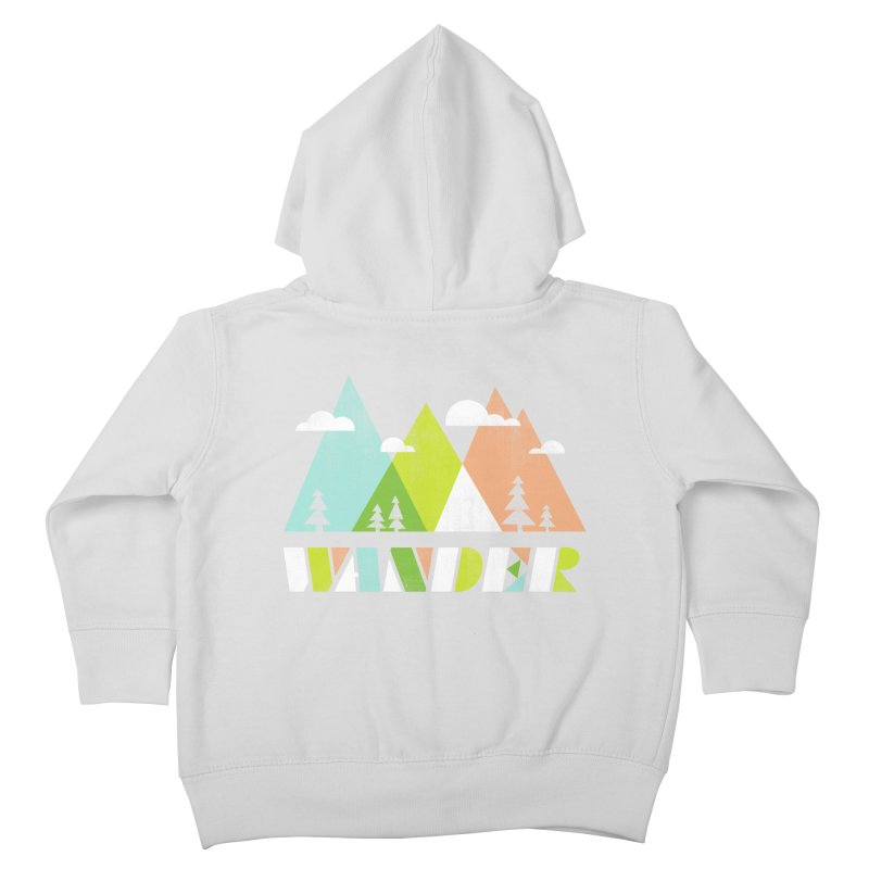 Wander Kids Toddler Zip-Up Hoody by Jenny Tiffany's Artist Shop