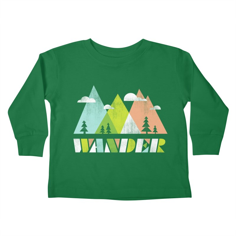 Wander Kids Toddler Longsleeve T-Shirt by Jenny Tiffany's Artist Shop