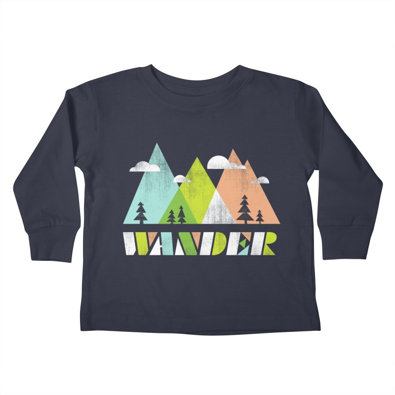 Wander Kids Toddler Longsleeve T-Shirt by Jenny Tiffany's Artist Shop