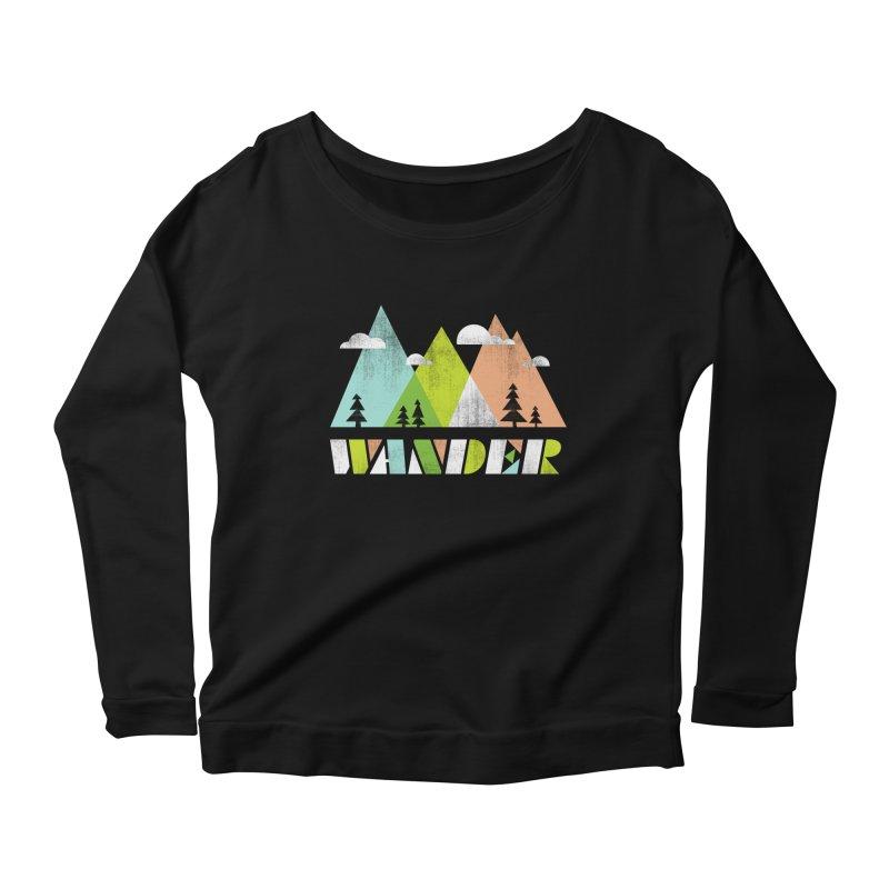Wander Women's Scoop Neck Longsleeve T-Shirt by Jenny Tiffany's Artist Shop
