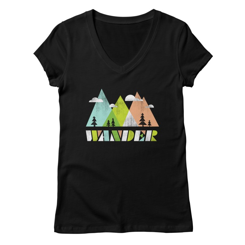 Wander Women's V-Neck by Jenny Tiffany's Artist Shop