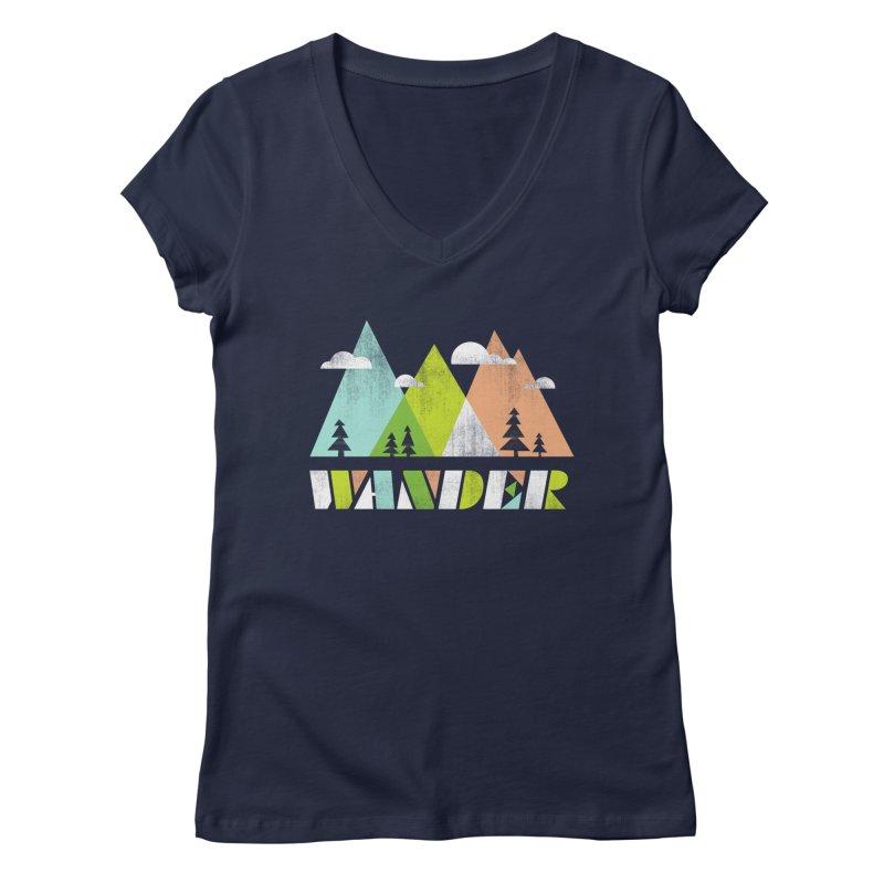 Wander Women's V-Neck by Jenny Tiffany's Artist Shop