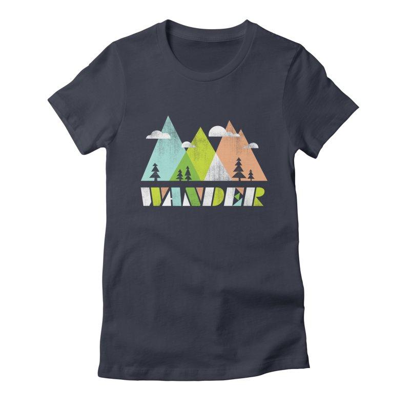 Wander Women's T-Shirt by Jenny Tiffany's Artist Shop