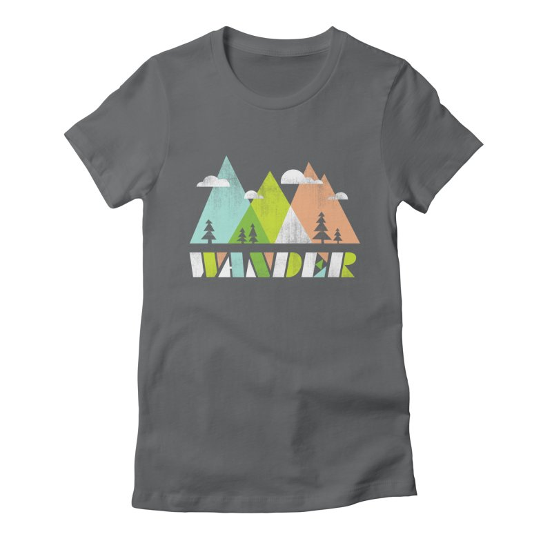 Wander Women's Fitted T-Shirt by Jenny Tiffany's Artist Shop