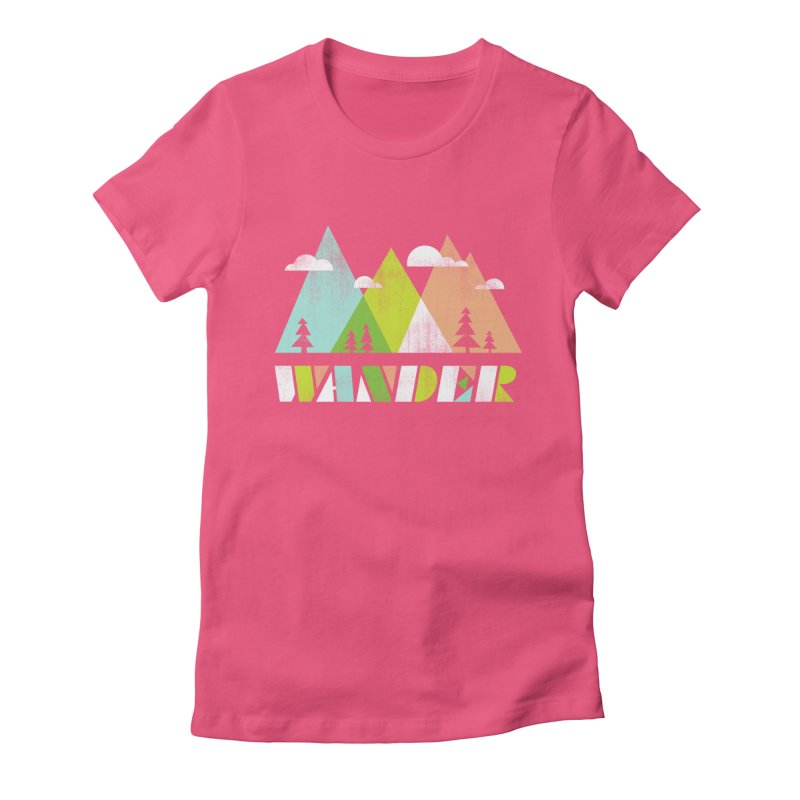 Wander Women's Fitted T-Shirt by Jenny Tiffany's Artist Shop
