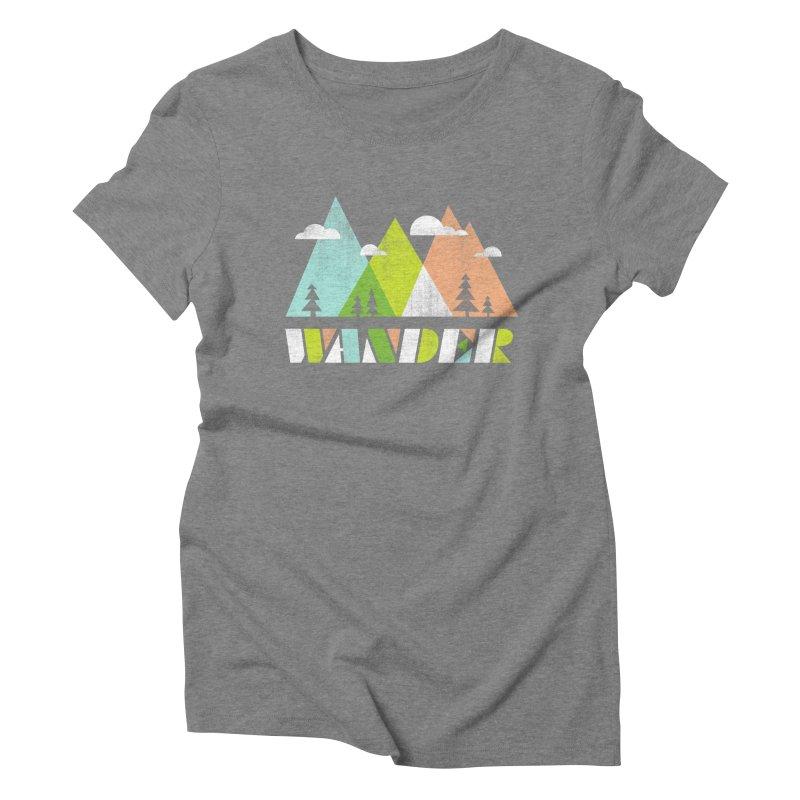 Wander Women's Triblend T-Shirt by Jenny Tiffany's Artist Shop