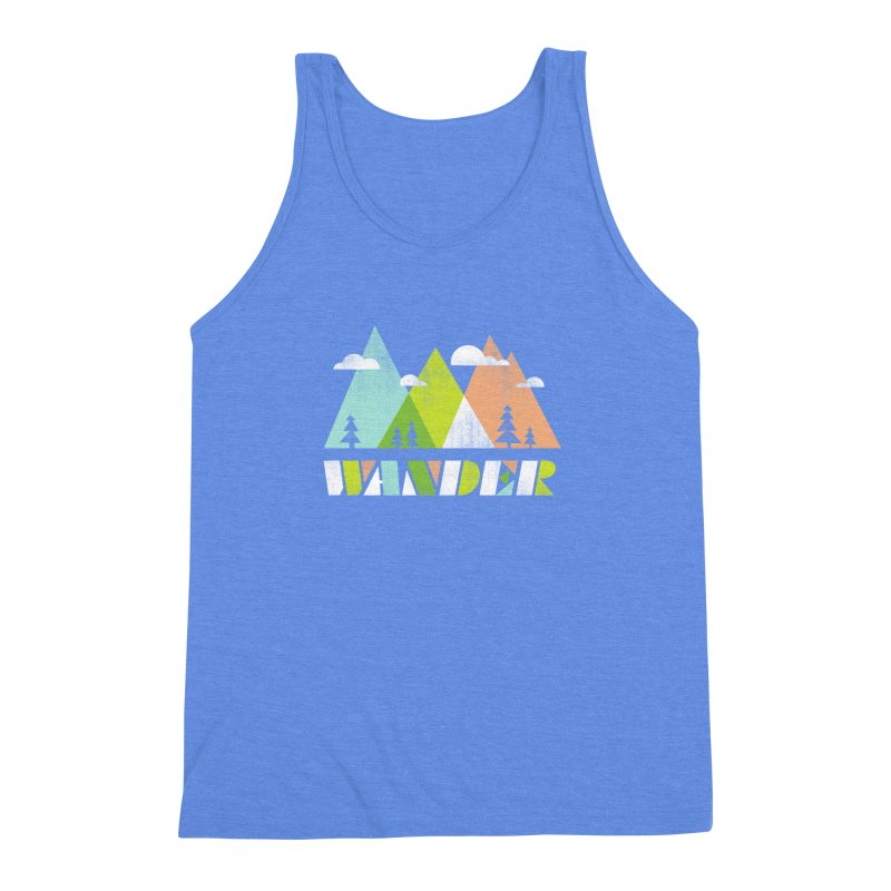 Wander Men's Triblend Tank by Jenny Tiffany's Artist Shop