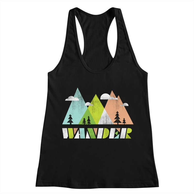 Wander Women's Racerback Tank by Jenny Tiffany's Artist Shop
