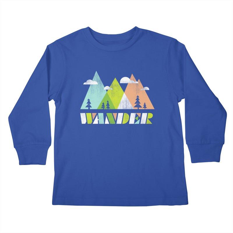 Wander Kids Longsleeve T-Shirt by Jenny Tiffany's Artist Shop