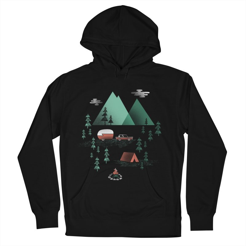 Pitch a Tent Women's French Terry Pullover Hoody by Jenny Tiffany's Artist Shop