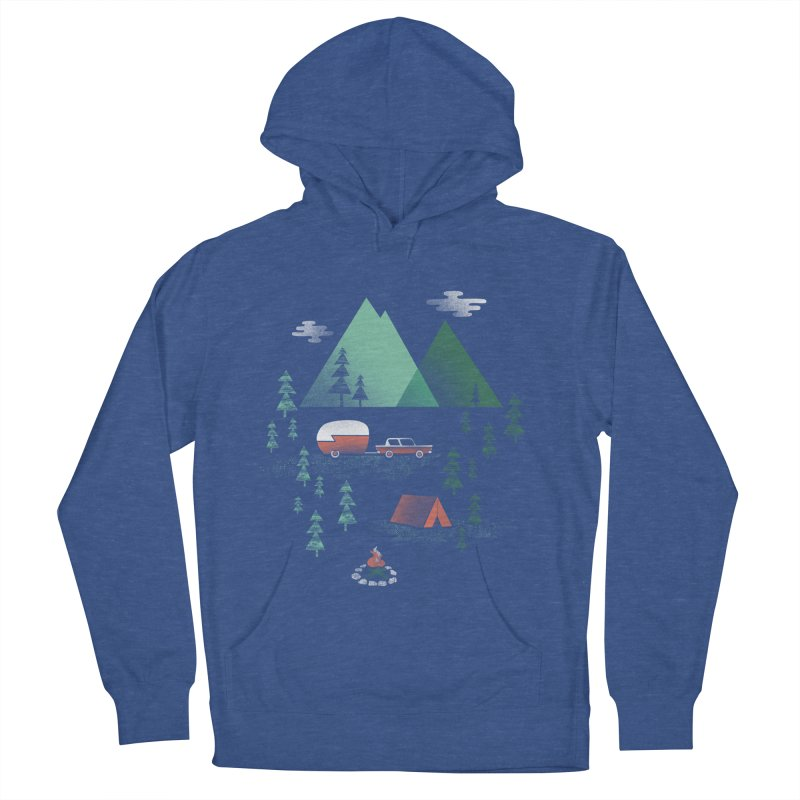 Pitch a Tent Men's French Terry Pullover Hoody by Jenny Tiffany's Artist Shop