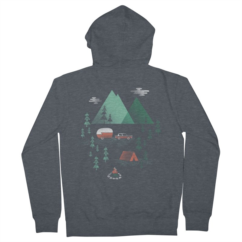Pitch a Tent Men's French Terry Zip-Up Hoody by Jenny Tiffany's Artist Shop