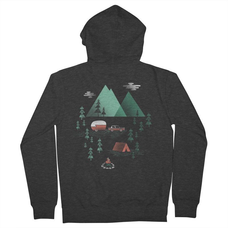 Pitch a Tent Men's Zip-Up Hoody by Jenny Tiffany's Artist Shop