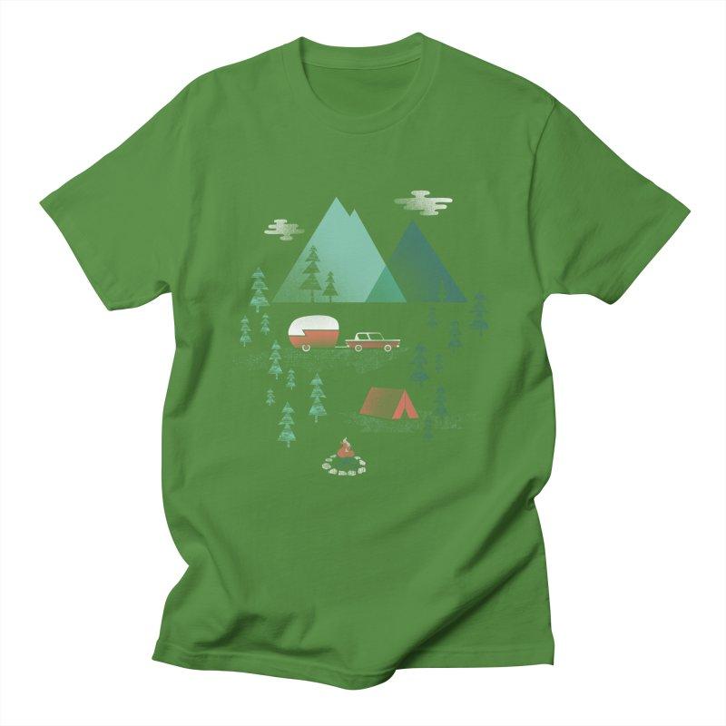 Pitch a Tent Men's T-shirt by Jenny Tiffany's Artist Shop
