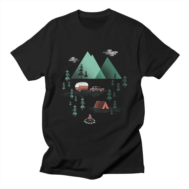 Pitch a Tent Men's Regular T-Shirt by Jenny Tiffany's Artist Shop