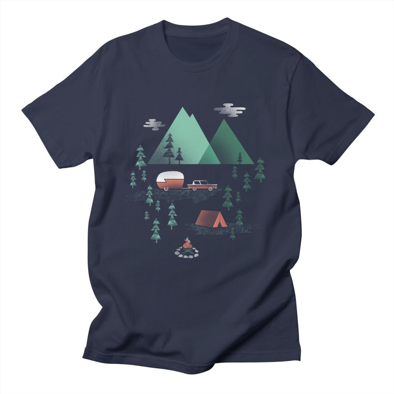 Pitch a Tent Men's T-Shirt by Jenny Tiffany's Artist Shop