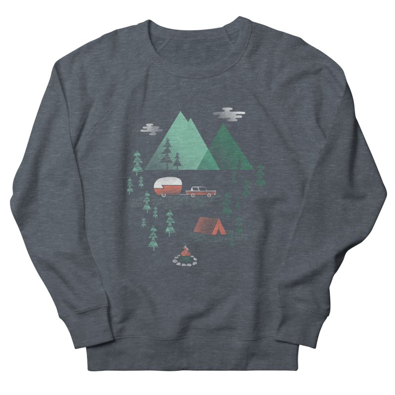 Pitch a Tent Women's French Terry Sweatshirt by Jenny Tiffany's Artist Shop