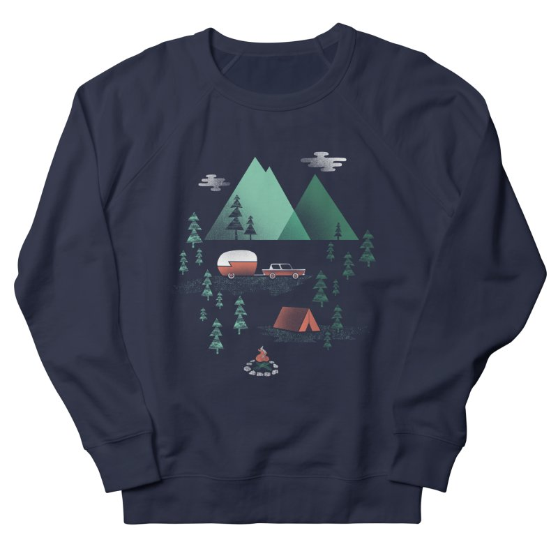 Pitch a Tent Men's Sweatshirt by Jenny Tiffany's Artist Shop