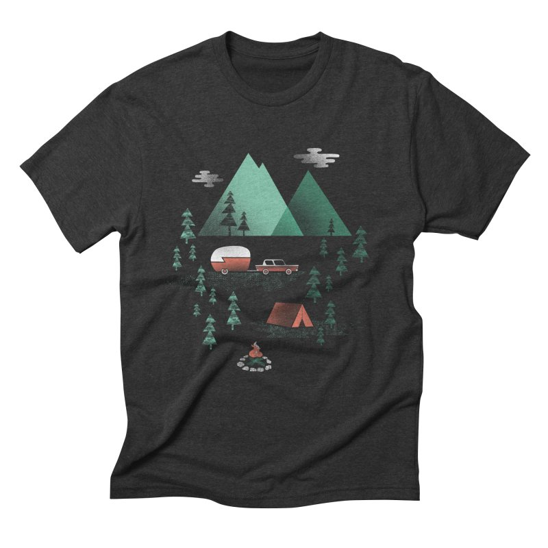 Pitch a Tent Men's Triblend T-Shirt by Jenny Tiffany's Artist Shop